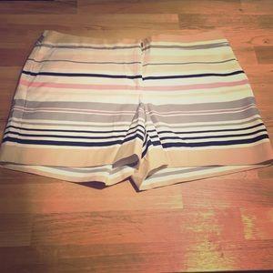 Never Worn Pastel Striped Shorts